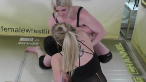 American blonde babe homemade wrestling