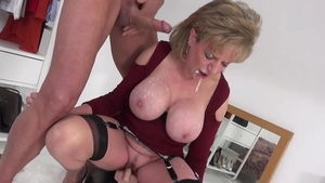 Hardcore sex together with blonde haired