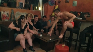 Striptease at the party HD
