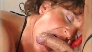 Slamming hard together with muscle mature