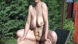 Granny cum in mouth in public in HD