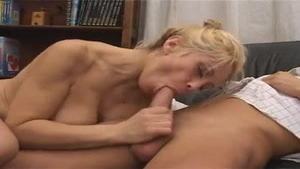 Busty large boobs italian MILF receiving facial