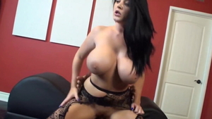 Real sex accompanied by huge boobs british buxom Sophie Dee