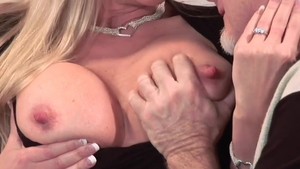 Large boobs blonde cuckold in HD