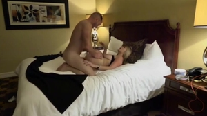 Large tits hotwife doggystyle in hotel