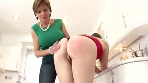 Big ass british mature spanking