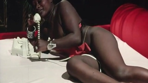 Vintage hairy ebony interracial pounding