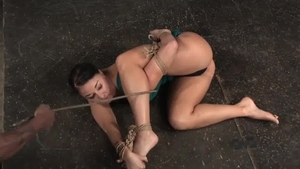 Tiedup submissive Caned Hard By darksome master