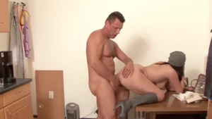 Huge boobs scout hardcore seduce in the kitchen