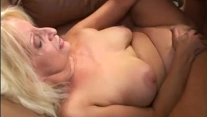 Fucking in company with big butt granny