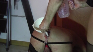 Fisting together with latina bisexual