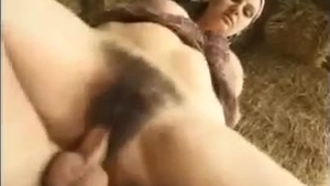 Raw sex together with large tits mature