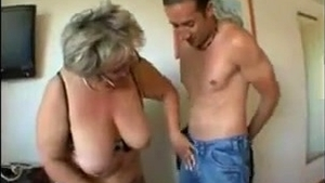 Ass fucking escorted by beautiful french granny