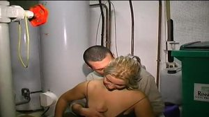 Young blonde hair french Mandy Leone voyeur threesome