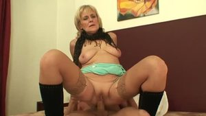 Hard sex starring young mature