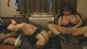 Gina Colany in her lingerie threesome