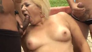 Rough sex alongside brazilian granny