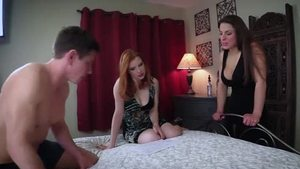 Young and hairy redhead POV threesome