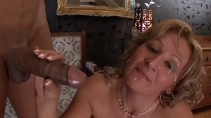 Nailing with large boobs MILF