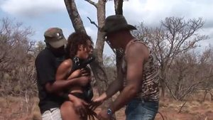 African babe need gets threesome