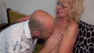 Hard fucking in company with young granny