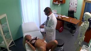 Creampied in the hospital alongside young amateur