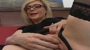 Naughty Nina Hartley blowjob in panties