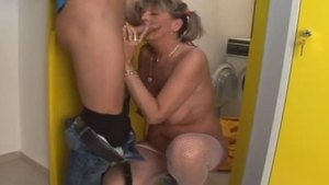 Sloppy fucking along with granny