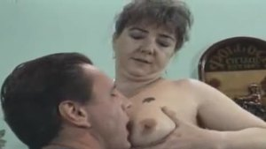 Sex scene along with hairy granny
