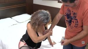 Blowjob in the company of young MILF