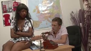 Young Jenny Cameroon gets a good fucking