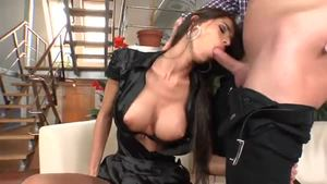 Huge boobs brunette Nessa Devil has a taste for the best sex