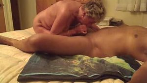 Granny Shirley alongside Sandra Ann interracial fuck