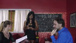Ebony Jenna J is bubble butt waitress