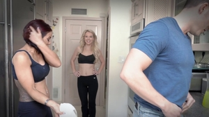 Foursome starring large tits friend