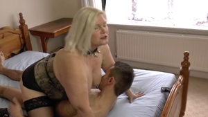Sex together with chubby british granny