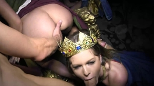 Aubrey Gold orgy sex tape
