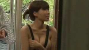 Japanese bikini CMNF outdoors