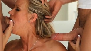 Brandi Love & Johnny Castle receiving facial cum loads