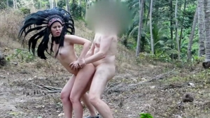 Pussy sex accompanied by wild couple