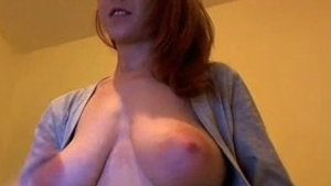 Busty girlfriend gets a buzz out of sex