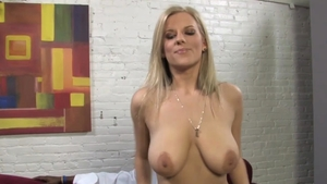 Blonde haired Haley Cummings playing with BBC