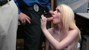 Petite police chick nailed hard in HD