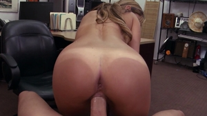Tanned amateur feels up to voyeur hard ramming in office HD