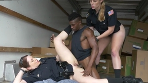 Blowjob with police woman