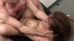 Alison Rey deepthroat at the casting in HD