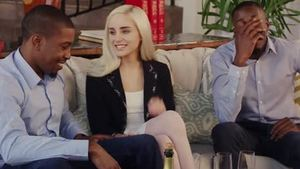 Blonde hair Naomi Woods agrees to MMF