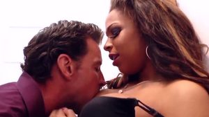 Nailed rough in the company of shaved ebony brunette