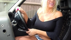 Large boobs british female interracial fucking in the taxi