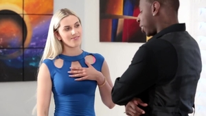 Ebony blonde hair Niki Snow gets a buzz out of nailed rough HD